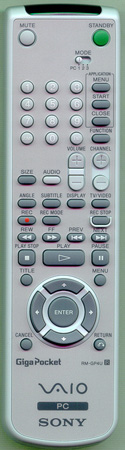 SONY 1-477-900-11 RMGP4U Genuine OEM original Remote