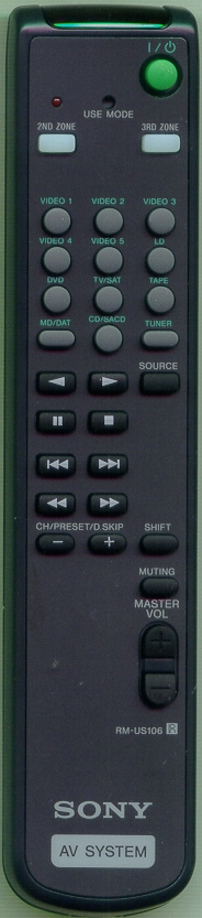 SONY 1-478-000-11 RMUS106 Refurbished Genuine OEM Original Remote