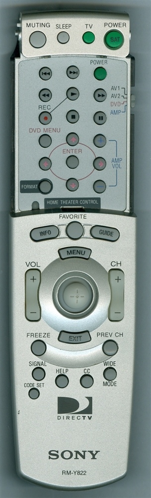SONY 1-478-176-11 RMY822 Refurbished Genuine OEM Original Remote