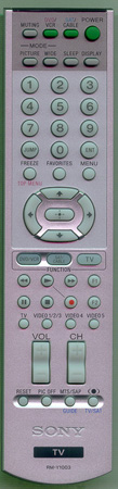 SONY 1-478-772-12 RMY1003 Genuine  OEM original Remote