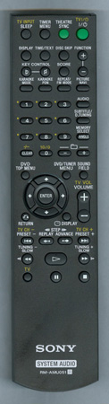 SONY 1-487-202-11 RMAMU051 Genuine OEM original Remote