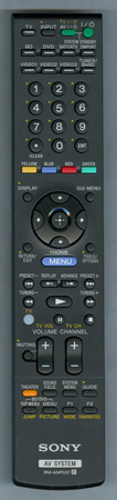 SONY 1-487-215-11 RMANP037 Genuine  OEM original Remote