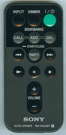 SONY 1-487-942-12 RMANU087 Genuine  OEM original Remote