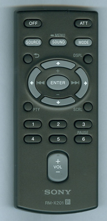 SONY 1-489-810-11 RM-X201 Genuine OEM original Remote