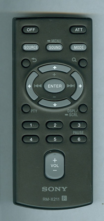 SONY 1-489-810-21 RMX211 Genuine  OEM original Remote