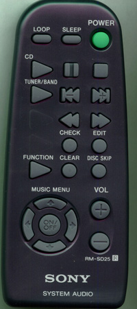 SONY 8-917-538-90 RMSD25 Genuine  OEM original Remote