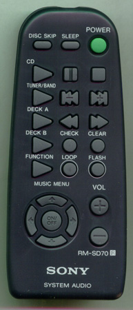 SONY 8-917-581-90 RMSD70 Genuine  OEM original Remote