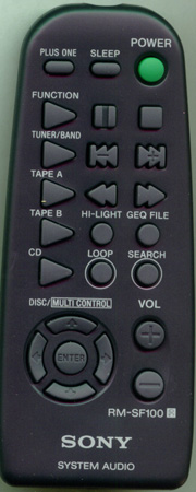 SONY 8-917-584-90 RMSF100 Genuine  OEM original Remote
