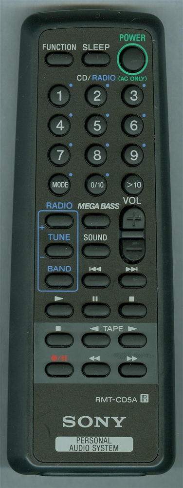 SONY 8-917-612-90 RMTCD5A Refurbished Genuine OEM Original Remote