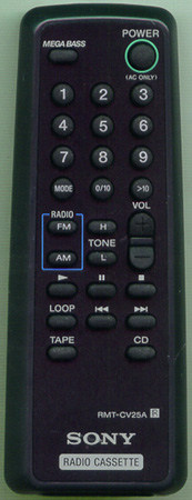 SONY 8-917-624-90 RMTCV25A Genuine  OEM original Remote
