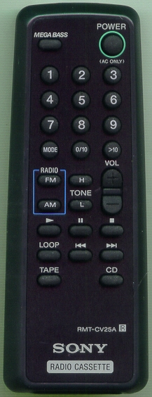 SONY 8-917-624-90 RMTCV25A Refurbished Genuine OEM Original Remote