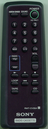SONY 8-917-626-90 RMTCV35A Genuine  OEM original Remote