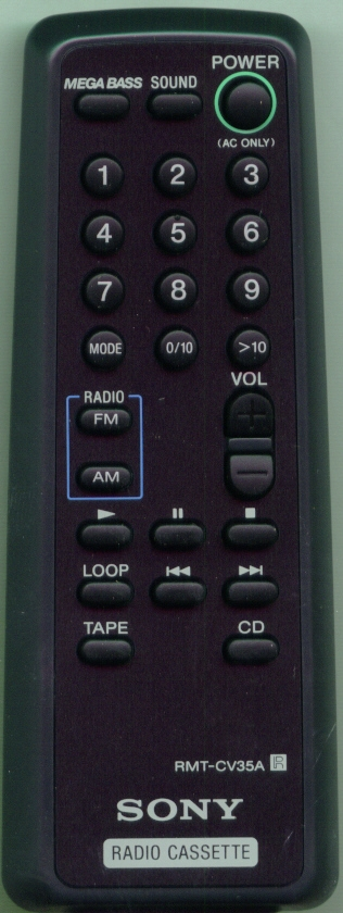 SONY 8-917-626-90 RMTCV35A Refurbished Genuine OEM Original Remote