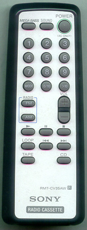 SONY 8-917-642-90 RMTCV35AW Genuine OEM original Remote