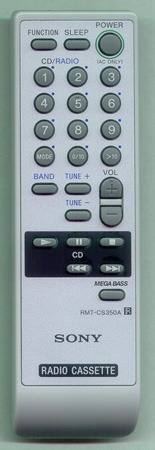 SONY A-1107-489-A RMTCS350A Genuine  OEM original Remote
