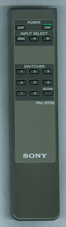 SONY A-1470-892-A RM1270S Genuine  OEM original Remote