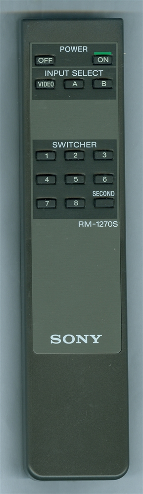SONY A-1470-892-A RM1270S Refurbished Genuine OEM Original Remote