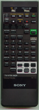 SONY A-1470-925-A RM772 Genuine  OEM original Remote