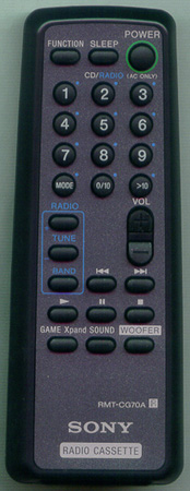 SONY A-3013-894-A RMTCG70A Genuine  OEM original Remote