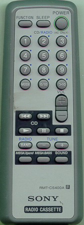 SONY A-3013-974-A RMTCS400A Genuine  OEM original Remote