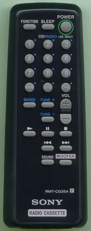 SONY A-3013-979-A RMTCG35A Genuine  OEM original Remote