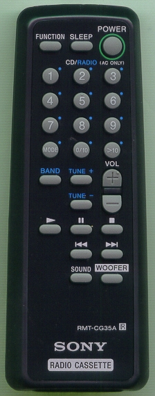 SONY A-3013-979-A RMTCG35A Refurbished Genuine OEM Original Remote