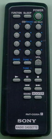 SONY A-3170-228-A RMTCG35A Genuine  OEM original Remote