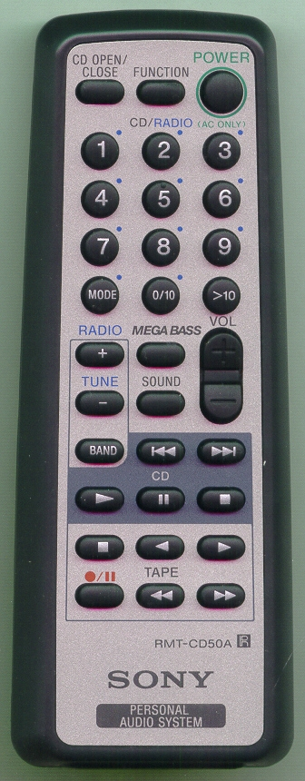 SONY A-3250-873-A RMTCD50A Refurbished Genuine OEM Original Remote