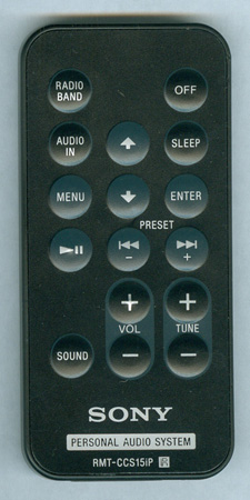 SONY ICFCS15IPBLK RMTCCS15IP Genuine  OEM original Remote