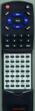 SONY 1-418-321-41 RMTD112A Custom Built Redi Remote