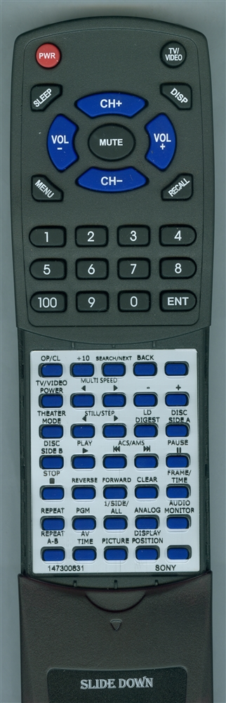 SONY 1-473-008-31 RMTM37A Custom Built  Redi Remote