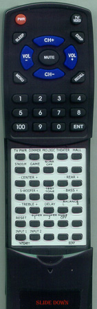 SONY 1-475-232-11 RMJ57 Custom Built Redi Remote