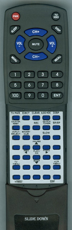 SONY 1-475-553-21 RMTV231A Custom Built Redi Remote