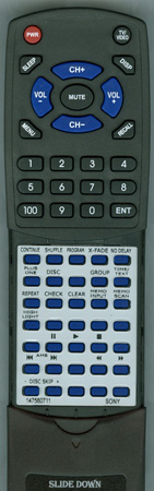 SONY 1-475-607-11 RM-DX57 Custom Built Redi Remote