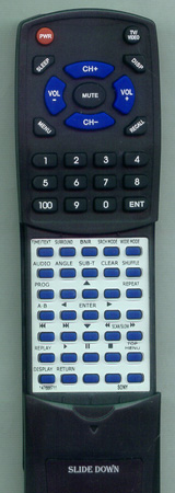 SONY 1-476-887-11 RMTD137A Custom Built Redi Remote