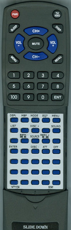 SONY 1-477-110-31 RMX119 Custom Built Redi Remote