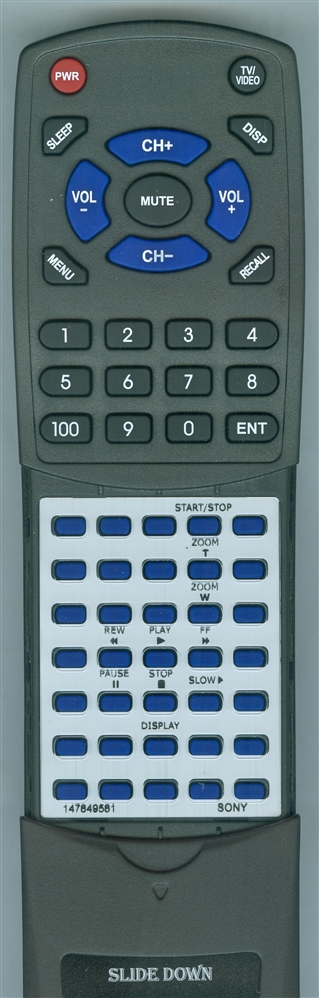 SONY 1-478-495-81 RMT833 Custom Built  Redi Remote