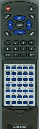 SONY 1-478-545-31 RMTD165P Custom Built Redi Remote