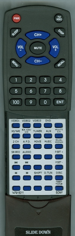 SONY 1-479-150-11 RM-AAP001 Custom Built Redi Remote