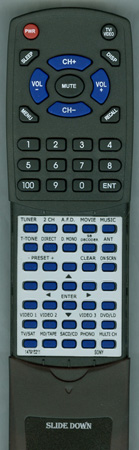 SONY 1-479-152-11 RMAAE001 Custom Built Redi Remote