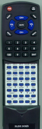 SONY 1-480-201-11 RMAAL011 Custom Built Redi Remote