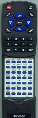 SONY 1-480-585-11 RMAAU020 Custom Built Redi Remote