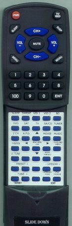 SONY 1-480-588-11 RMAAU021 Custom Built Redi Remote