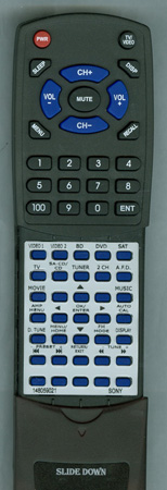 SONY 1-480-590-21 RMAAU027 Custom Built Redi Remote