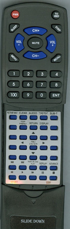 SONY 1-487-025-11 RMTD189A Custom Built Redi Remote