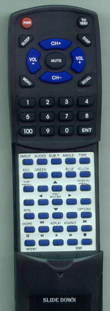 SONY 1-487-218-11 RMT-B104A Custom Built Redi Remote