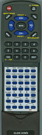 SONY 1-487-853-11 RMAAP055 Custom Built Redi Remote