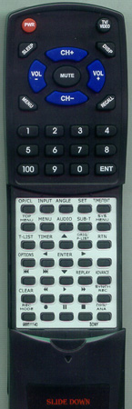 SONY 9-885-111-40 RMTD244A Custom Built Redi Remote
