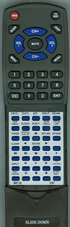 SONY 9-885-112-22 RMTD244A Custom Built Redi Remote
