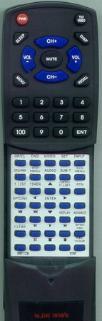 SONY 9-885-112-30 RMTD241A Custom Built Redi Remote
